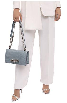 Женская сумка jewelled satchel ALEXANDER MCQUEEN синего цвета, арт. 554128/1HB02   Фото 2