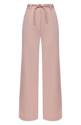 Женские брюки из льна и вискозы ZIMMERMANN светло-розового цвета, арт. 1188PLMI   Фото 1