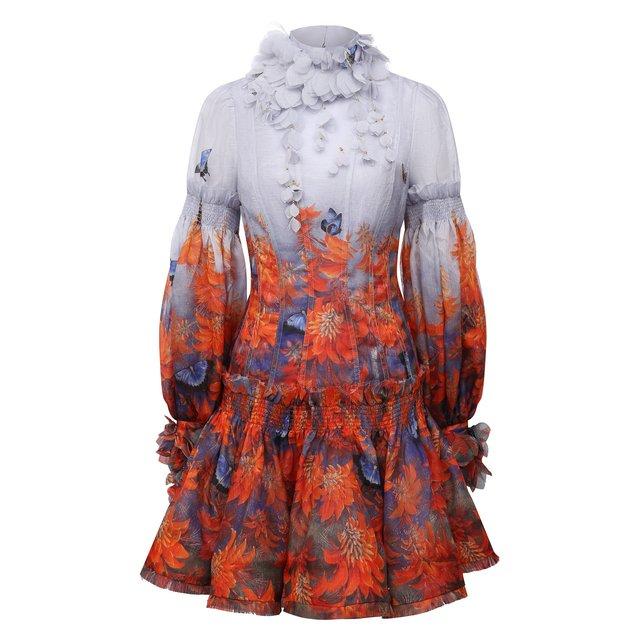 Платье изо льна и вискозы Zimmermann