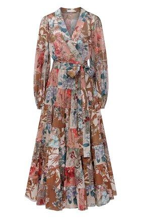 Женское хлопковое платье ZIMMERMANN разноцветного цвета, арт. 1425DCAS   Фото 1