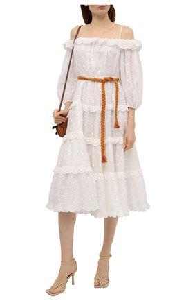 Женское платье ZIMMERMANN белого цвета, арт. 1629DMAE   Фото 2