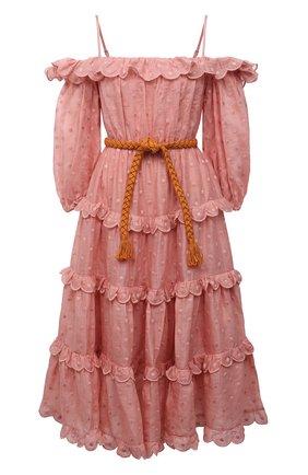 Женское платье ZIMMERMANN розового цвета, арт. 1629DMAE   Фото 1