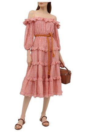 Женское платье ZIMMERMANN розового цвета, арт. 1629DMAE   Фото 2