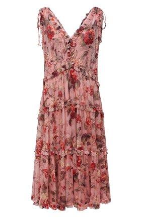 Женское шелковое платье ZIMMERMANN розового цвета, арт. 1863DCAS | Фото 1