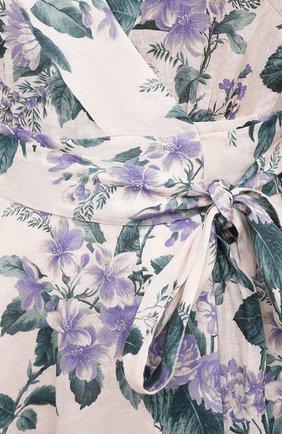 Женское льняное платье ZIMMERMANN сиреневого цвета, арт. 8334DCAS   Фото 5