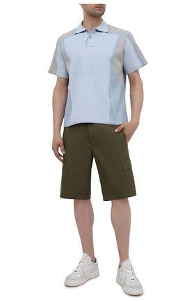 Мужские хлопковые шорты BOGNER хаки цвета, арт. 18173753 | Фото 2