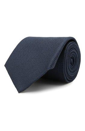 Мужской шелковый галстук HUGO темно-синего цвета, арт. 50454868 | Фото 1