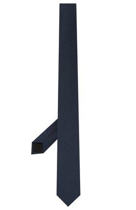 Мужской шелковый галстук HUGO темно-синего цвета, арт. 50454868 | Фото 2