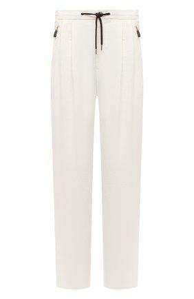 Мужские льняные брюки GIORGIO ARMANI белого цвета, арт. 1WGPP0JA/T02P4 | Фото 1