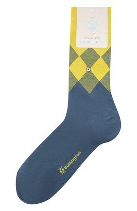 Мужские хлопковые носки BURLINGTON желтого цвета, арт. 21912 | Фото 1