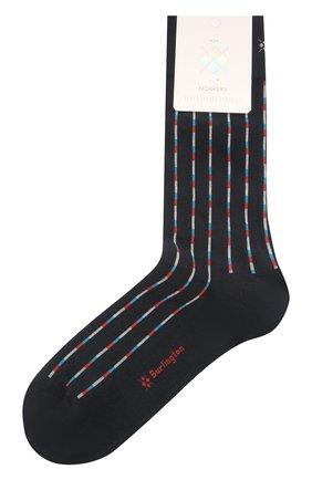 Мужские хлопковые носки BURLINGTON темно-синего цвета, арт. 21932 | Фото 1