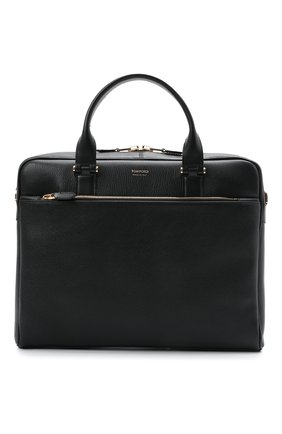 Мужская кожаная сумка для ноутбука TOM FORD черного цвета, арт. H0426T-LG0011 | Фото 1