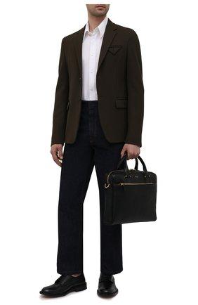 Мужская кожаная сумка для ноутбука TOM FORD черного цвета, арт. H0426T-LG0011 | Фото 2