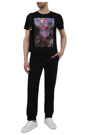 Мужская хлопковая футболка EMPORIO ARMANI черного цвета, арт. 6K1T8P/1JQ4Z | Фото 2 (Рукава: Короткие; Материал внешний: Хлопок; Длина (для топов): Стандартные; Стили: Кэжуэл)