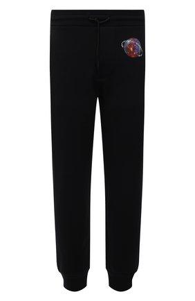 Мужские хлопковые джоггеры EMPORIO ARMANI черного цвета, арт. 6K1P8Q/1JM3Z | Фото 1 (Материал внешний: Хлопок; Длина (брюки, джинсы): Стандартные; Силуэт М (брюки): Джоггеры; Стили: Спорт-шик; Мужское Кросс-КТ: Брюки-трикотаж)