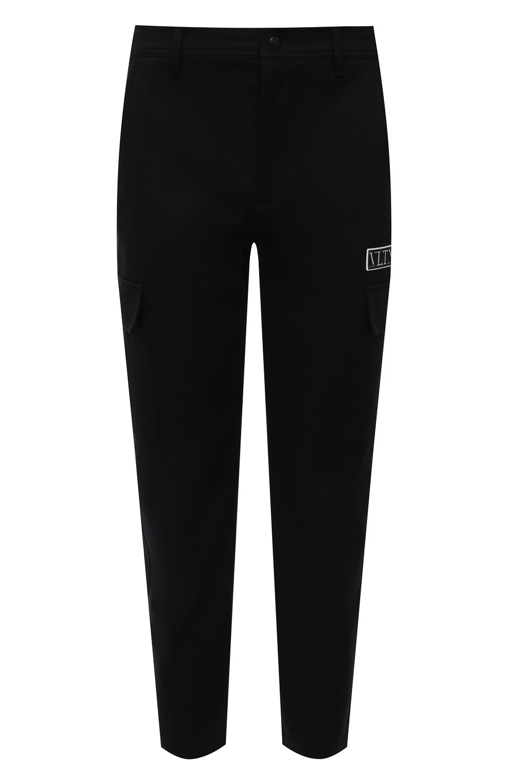 Мужские хлопковые брюки-карго VALENTINO черного цвета, арт. WV3REB006F1   Фото 1 (Силуэт М (брюки): Карго; Длина (брюки, джинсы): Стандартные; Случай: Повседневный; Материал внешний: Хлопок; Стили: Минимализм)