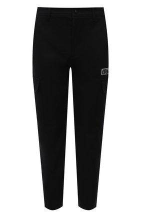 Мужские хлопковые брюки-карго VALENTINO черного цвета, арт. WV3REB006F1 | Фото 1 (Длина (брюки, джинсы): Стандартные; Материал внешний: Хлопок; Случай: Повседневный; Силуэт М (брюки): Карго; Стили: Минимализм)