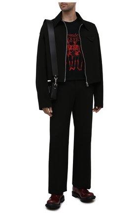 Мужские кожаные дерби ALEXANDER MCQUEEN бордового цвета, арт. 652663/WHZ80 | Фото 2