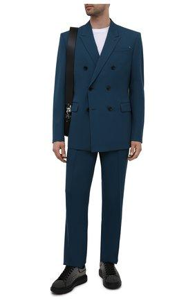 Мужские кожаные кеды ALEXANDER MCQUEEN черного цвета, арт. 662648/WIAB4 | Фото 2