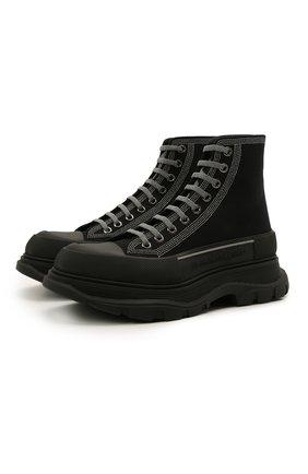 Мужские текстильные кроссовки ALEXANDER MCQUEEN черного цвета, арт. 662681/W4MV8 | Фото 1