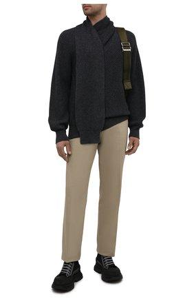 Мужские текстильные кроссовки ALEXANDER MCQUEEN черного цвета, арт. 662681/W4MV8 | Фото 2