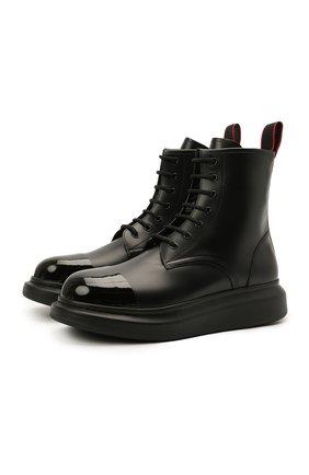 Мужские кожаные ботинки ALEXANDER MCQUEEN черного цвета, арт. 663528/WHX5R | Фото 1