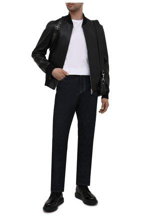 Мужские кожаные ботинки ALEXANDER MCQUEEN черного цвета, арт. 663528/WHX5R | Фото 2
