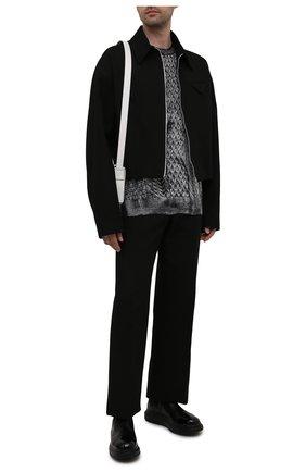 Мужские кожаные челси ALEXANDER MCQUEEN черного цвета, арт. 665014/WHX5T | Фото 2 (Материал внутренний: Натуральная кожа; Подошва: Массивная; Каблук высота: Высокий; Мужское Кросс-КТ: Сапоги-обувь, Челси-обувь)