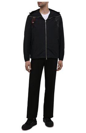 Мужская куртка ALEXANDER MCQUEEN черного цвета, арт. 662324/QRR21 | Фото 2