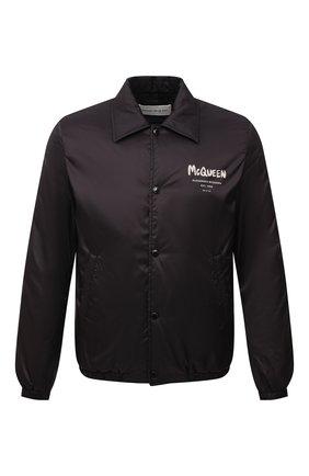 Мужская утепленная куртка ALEXANDER MCQUEEN черного цвета, арт. 662323/QRR60 | Фото 1