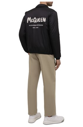 Мужская утепленная куртка ALEXANDER MCQUEEN черного цвета, арт. 662323/QRR60 | Фото 2