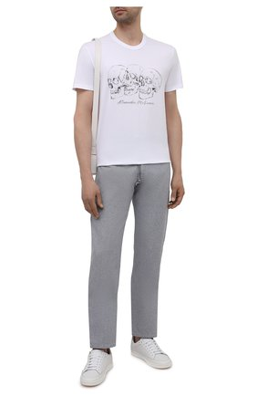 Мужская хлопковая футболка ALEXANDER MCQUEEN белого цвета, арт. 662548/QRZ62 | Фото 2 (Материал внешний: Хлопок; Длина (для топов): Стандартные; Рукава: Короткие; Стили: Панк)