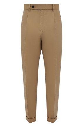 Мужские хлопковые брюки ALEXANDER MCQUEEN бежевого цвета, арт. 653534/QRS44 | Фото 1 (Материал внешний: Хлопок; Длина (брюки, джинсы): Стандартные; Случай: Повседневный; Материал подклада: Купро; Стили: Кэжуэл; Силуэт М (брюки): Чиносы)