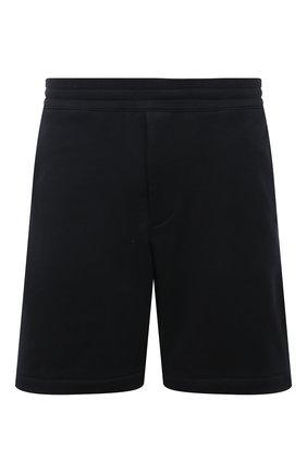 Мужские хлопковые шорты ALEXANDER MCQUEEN черного цвета, арт. 642668/QRX75 | Фото 1 (Материал внешний: Хлопок; Длина Шорты М: До колена; Кросс-КТ: Трикотаж; Принт: Без принта; Стили: Спорт-шик)