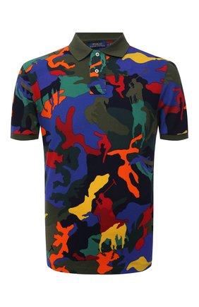 Мужское хлопковое поло POLO RALPH LAUREN разноцветного цвета, арт. 710842911 | Фото 1