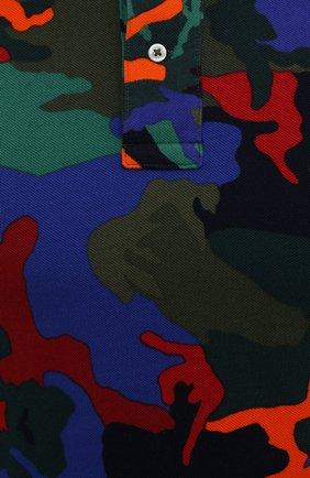 Мужское хлопковое поло POLO RALPH LAUREN разноцветного цвета, арт. 710842911 | Фото 5