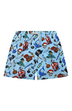 Детские плавки-шорты MC2 SAINT BARTH голубого цвета, арт. STBK JEAN LIGHTING/JEA0004/PIRS31   Фото 1