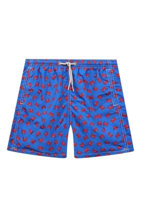 Детские плавки-шорты MC2 SAINT BARTH синего цвета, арт. STBK JEAN LIGHTING/JEA0004/CRBF61   Фото 1