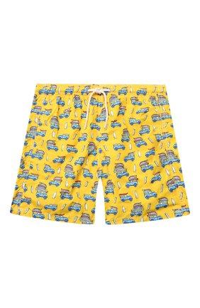 Детские плавки-шорты MC2 SAINT BARTH желтого цвета, арт. STBK JEAN LIGHTING/JEA0004/CASU91   Фото 1