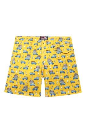 Детские плавки-шорты MC2 SAINT BARTH желтого цвета, арт. STBK JEAN LIGHTING/JEA0004/CASU91   Фото 2