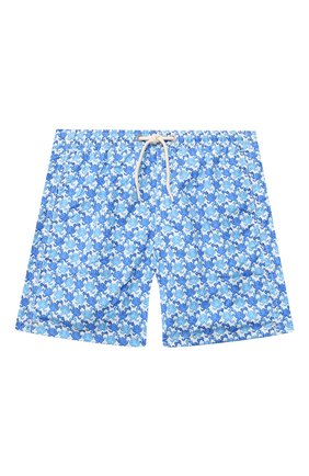 Детские плавки-шорты MC2 SAINT BARTH голубого цвета, арт. STBK JEAN LIGHTING/JEA0004/0CGY01   Фото 1