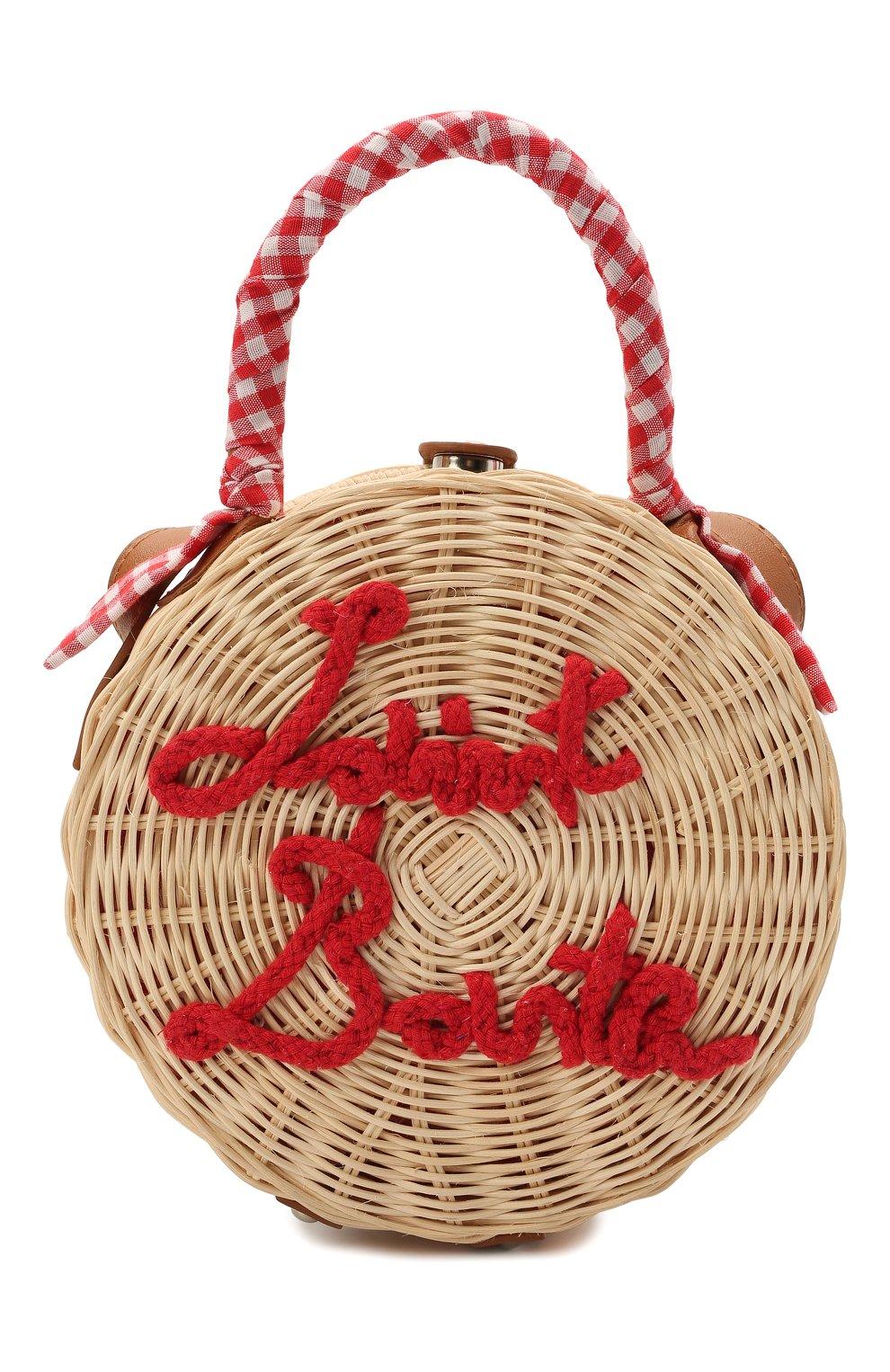 Детская сумка MC2 SAINT BARTH красного цвета, арт. STBA STRAW CLUTCH/STW0001   Фото 1