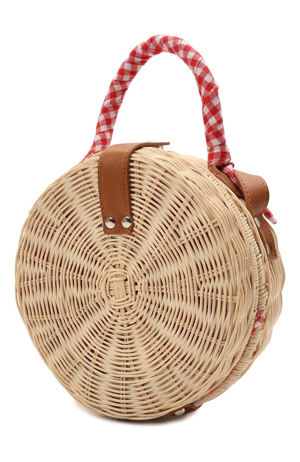 Детская сумка MC2 SAINT BARTH красного цвета, арт. STBA STRAW CLUTCH/STW0001   Фото 2