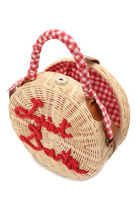 Детская сумка MC2 SAINT BARTH красного цвета, арт. STBA STRAW CLUTCH/STW0001   Фото 3