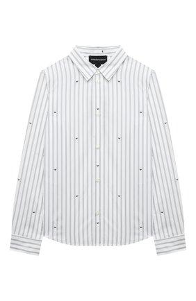 Детская хлопковая рубашка EMPORIO ARMANI белого цвета, арт. 6K4CA9/1N12Z | Фото 1