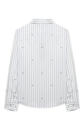 Детская хлопковая рубашка EMPORIO ARMANI белого цвета, арт. 6K4CA9/1N12Z | Фото 2