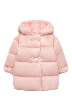 Детского пуховое пальто EMPORIO ARMANI розового цвета, арт. 6KEL08/1NWPZ | Фото 1