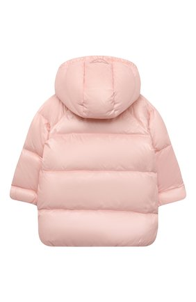 Детского пуховое пальто EMPORIO ARMANI розового цвета, арт. 6KEL08/1NWPZ | Фото 2
