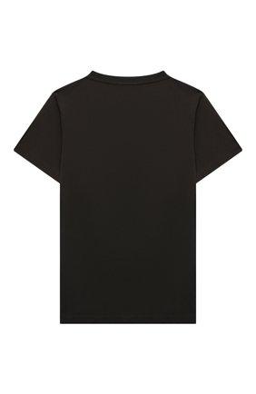 Детская хлопковая футболка EMPORIO ARMANI хаки цвета, арт. 6K4TJ8/4J54Z | Фото 2 (Материал внешний: Хлопок; Рукава: Короткие; Ростовка одежда: 10 - 11 лет | 140 - 146см, 13 - 15 лет | 158 см, 16 лет | 164 см, 4 года | 104 см, 5 лет | 110 см, 6 лет | 116 см, 7 лет | 122 см, 8 лет | 128 см)