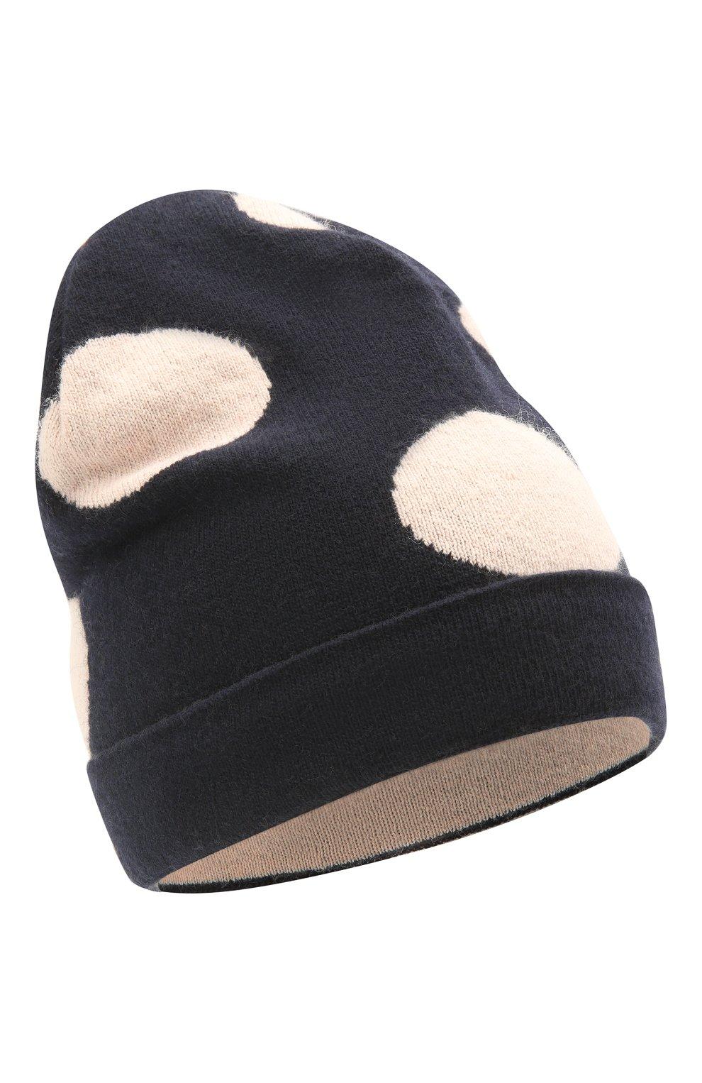 Детский комплект из шарфа и шапки EMPORIO ARMANI темно-синего цвета, арт. 397505/1A760   Фото 2 (Материал: Текстиль, Шерсть, Вискоза, Синтетический материал)